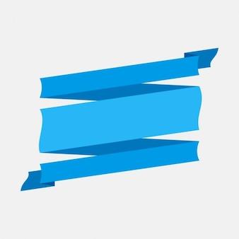 Blue retro ribbon