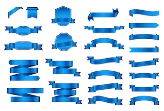 Коллекция синих лент