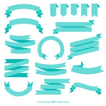 Blue ribbons design