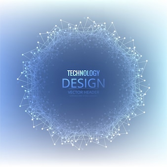 Blue round technology background