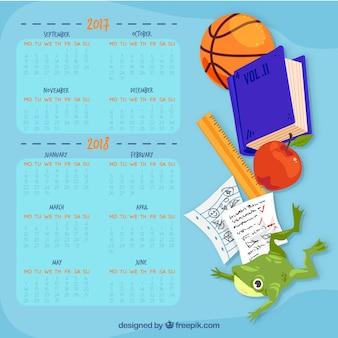 Blue school calendar