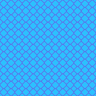 Blue seamless rounded square grid pattern background - vector graphic