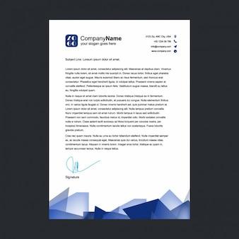 Blue shapes letterhead design