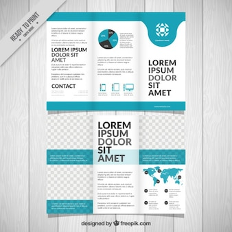 Blue simple business trifold