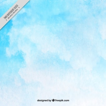 Blue sky watercolor background