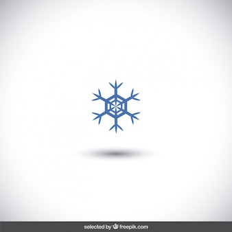 Blue snowflake icon