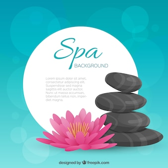 Blue spa template background