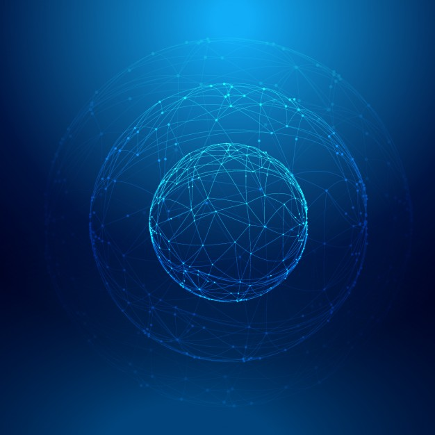 Blue sphere Background