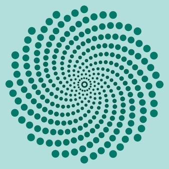 Blue spiral made with dots