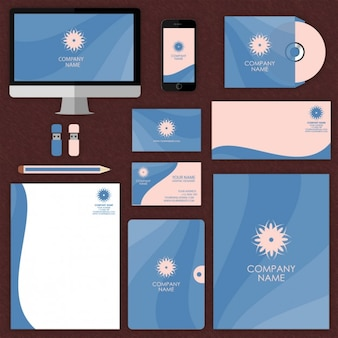 Blue stationery mock up