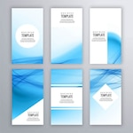 Blue stationery with wavy shapes