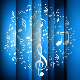 Blue striped music background