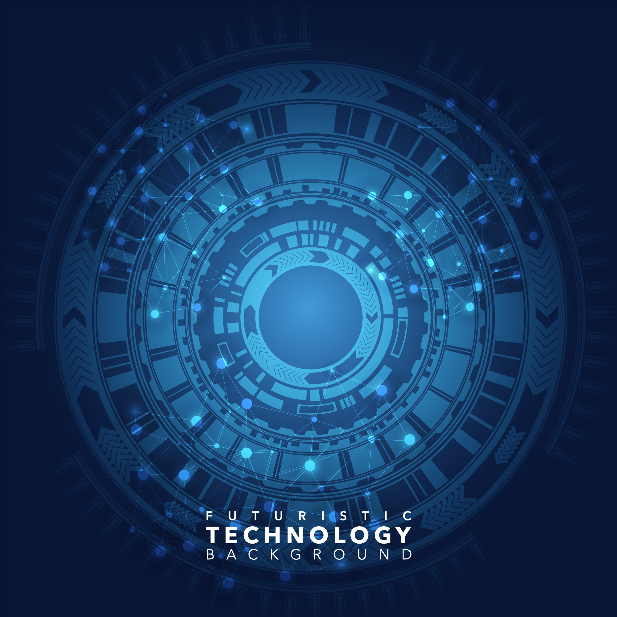 Blue technological background