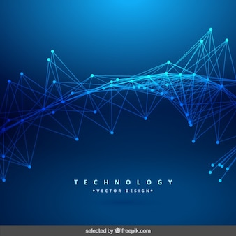 Blue technology abstract background