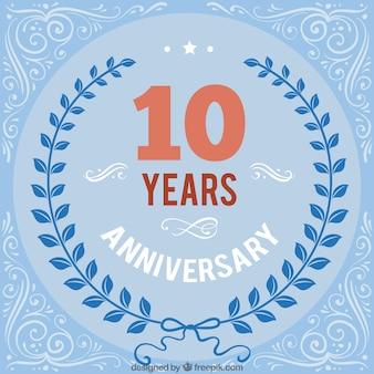 Blue Ten Anniversary Background