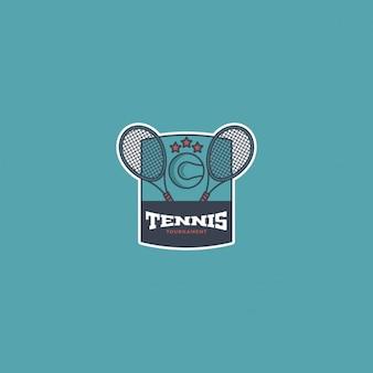 Blue tennis logo