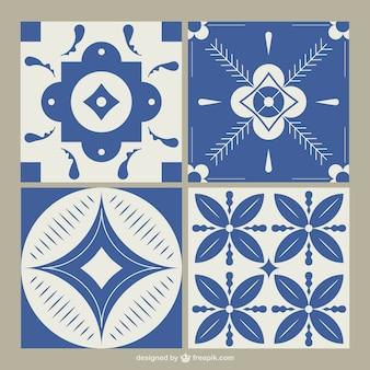 Blue tiles set