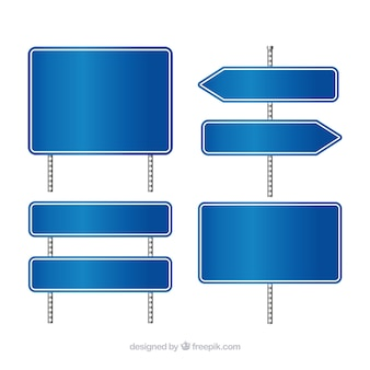 Blue traffic signs