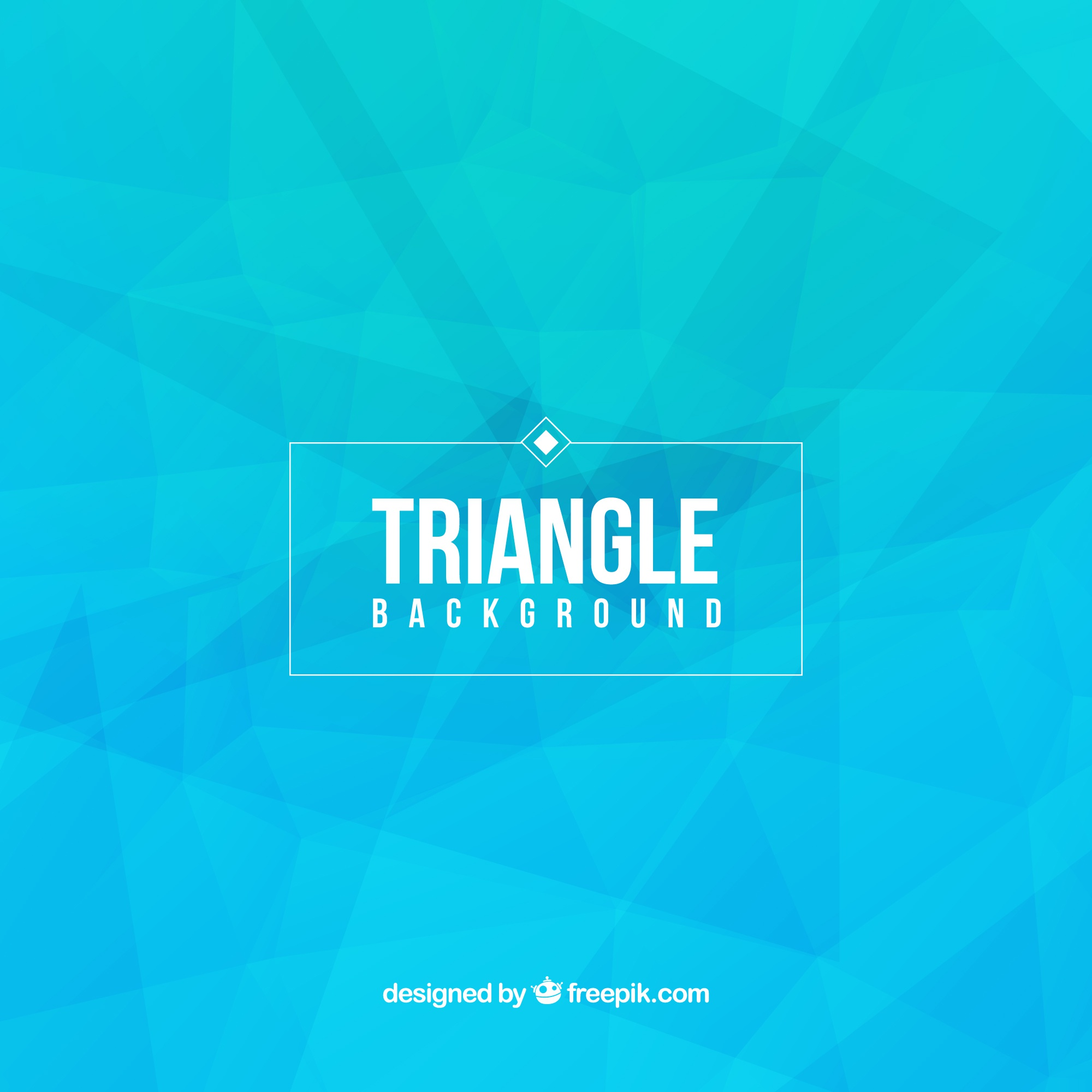 Blue triangle background
