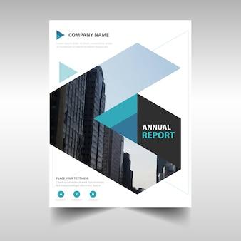 Blue triangle creative brochure template