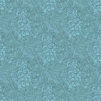 Blue tribal mountains pattern
