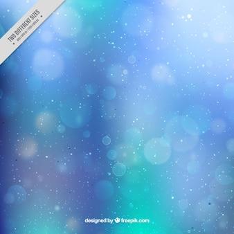 Blue unfocused bokeh background