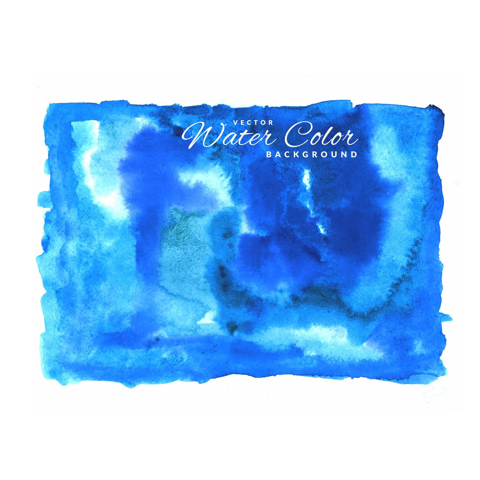 Blue vector water color background