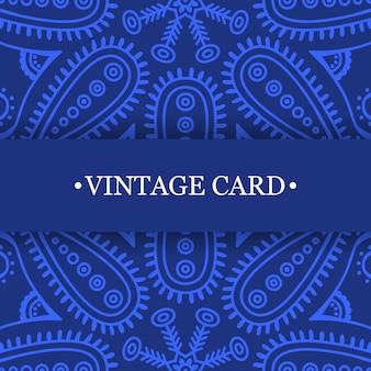 Blue vintage mandala design