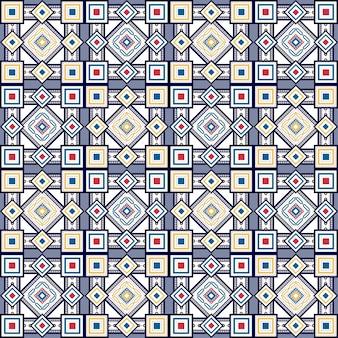 シームレスなヴィンテージ色のパターンベクトル図
