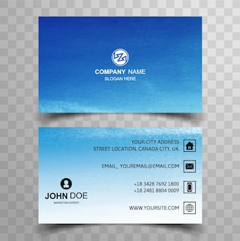 Blue visiting card template