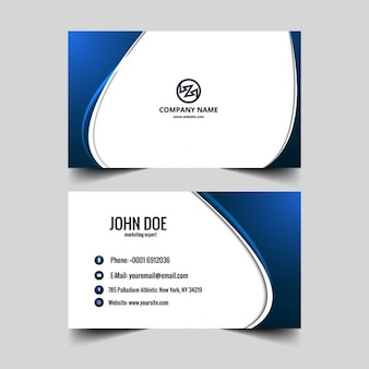 Blue visiting card