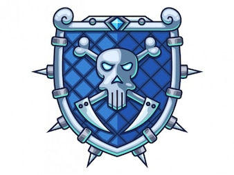 Blue war shield
