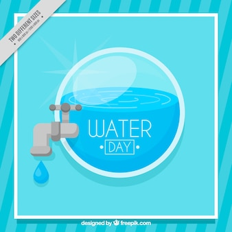 Blue water day background