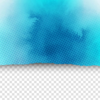 Blue watercolor background ripped paper style