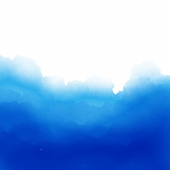 Blue watercolor background with space