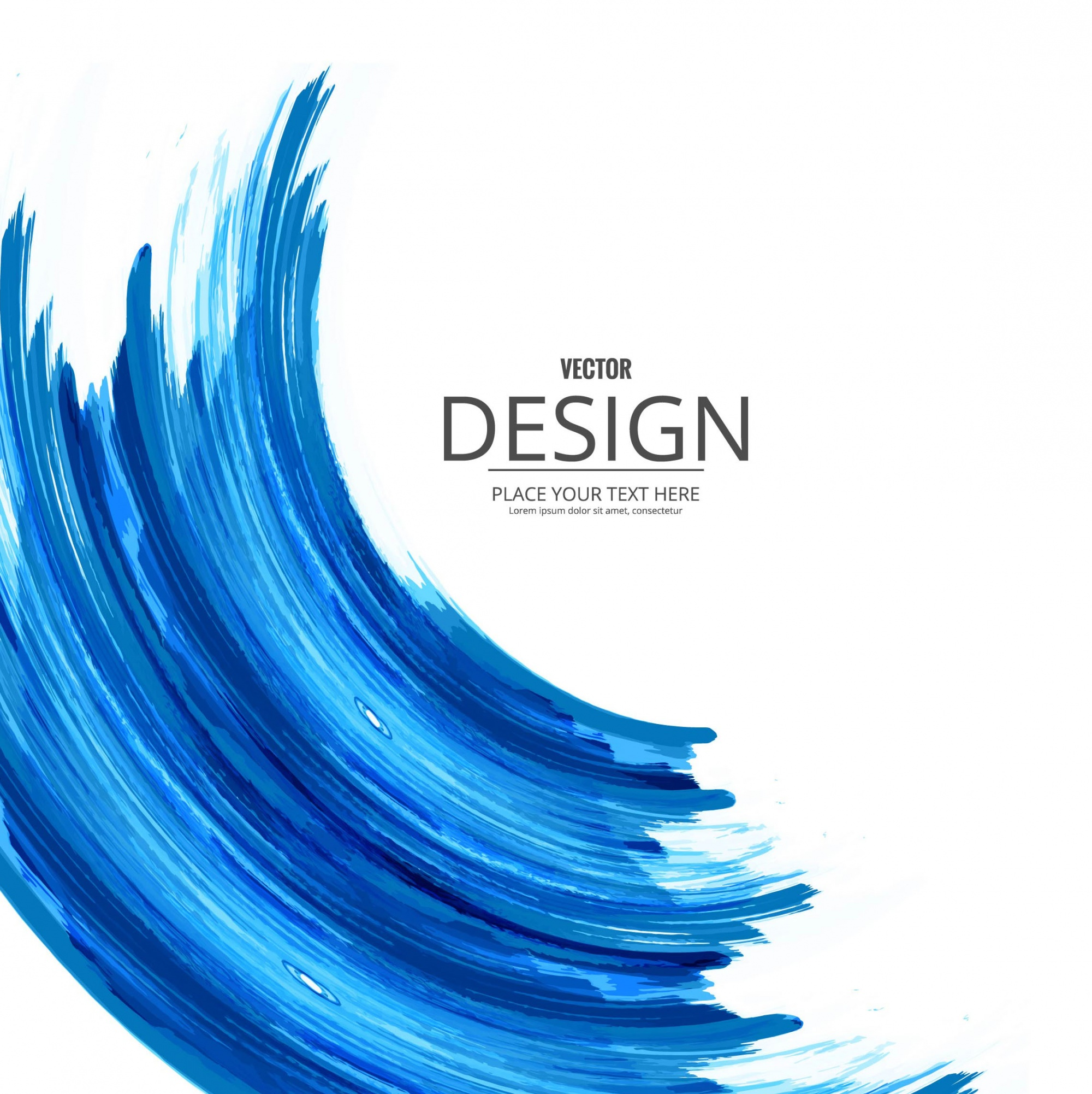 Blue watercolor background with wave form