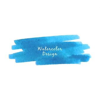Blue watercolor brush stroke design