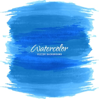 Blue watercolor brush strokes background