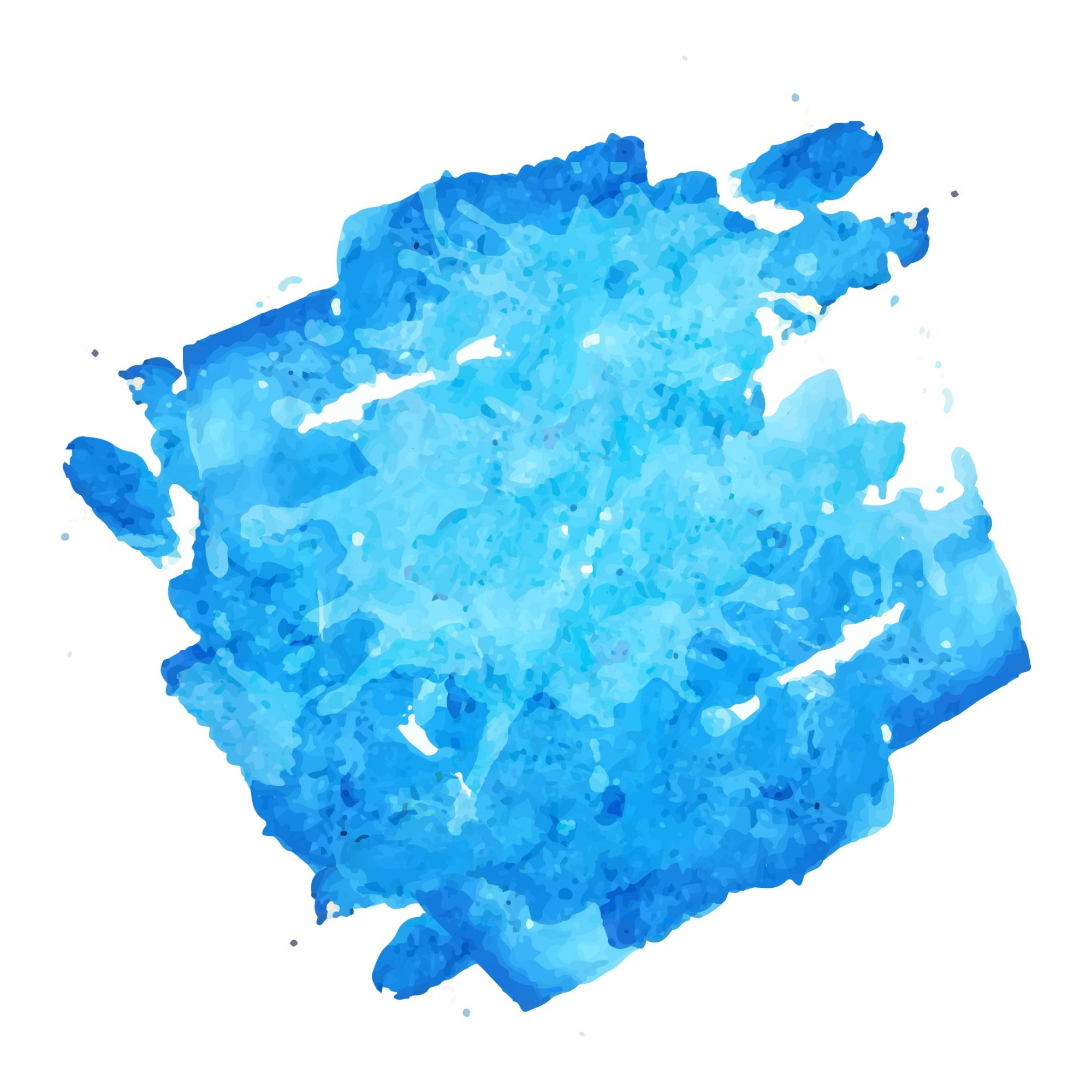 Blue watercolor brushes