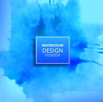 Blue watercolor design background
