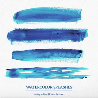 Blue Watercolor Stains