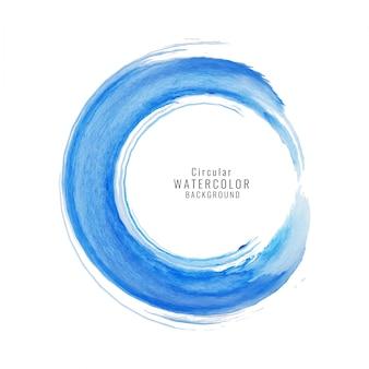 Blue watercolor texture, circular shape