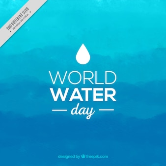 Blue watercolor world water day background