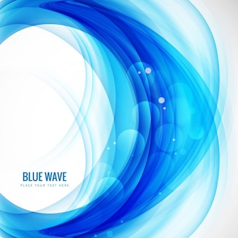 Blue wave background in bokeh style