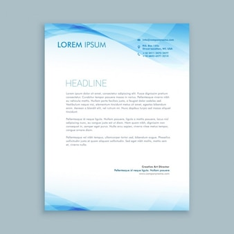 Blue waves letterhead