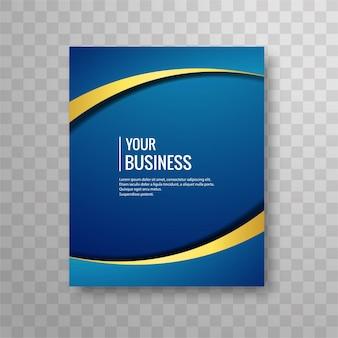 Blue wavy brochure design