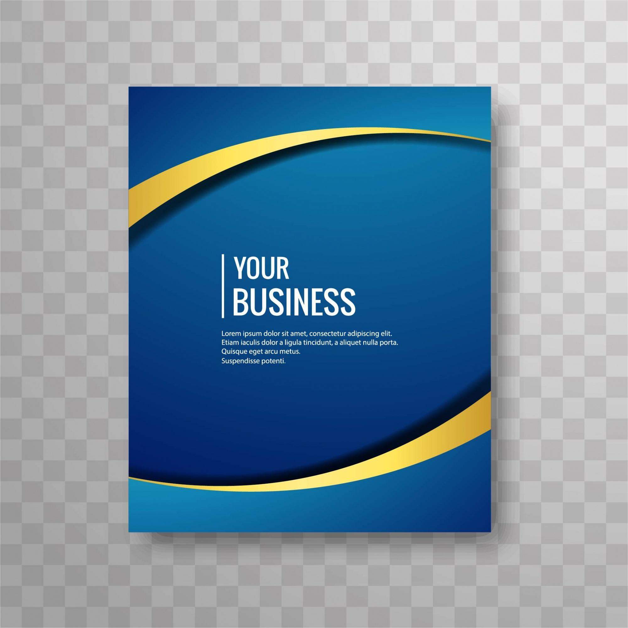 Blue wavy brochure design
