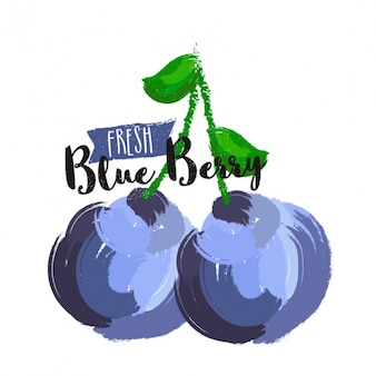 Blueberries background in abstract style