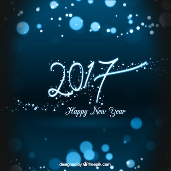Blues Happy New Year 2017 Background
