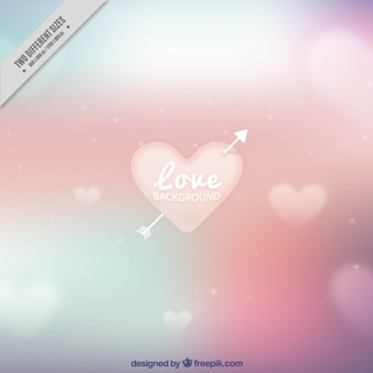 Blur background with hearts